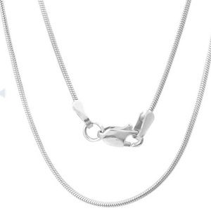"""Sterling Silver 20"""" Chain Necklace"""